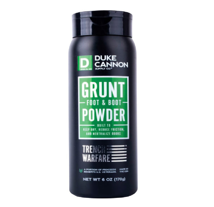 Duke Cannon POWDERGRUNT Boot/Foot Powder, 6 Oz