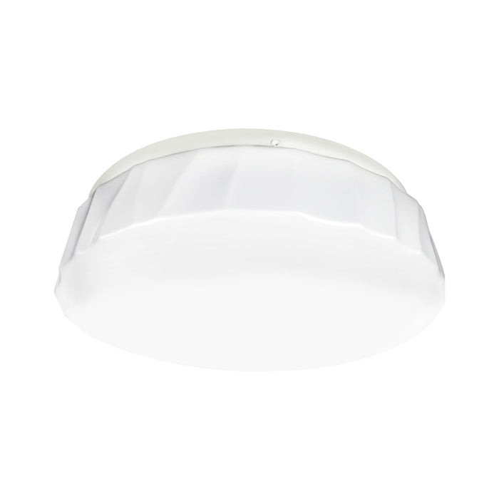 ETI 54450311 Color Preference Cliff Puff Decorative Dimmable Flush Mount, White, 11