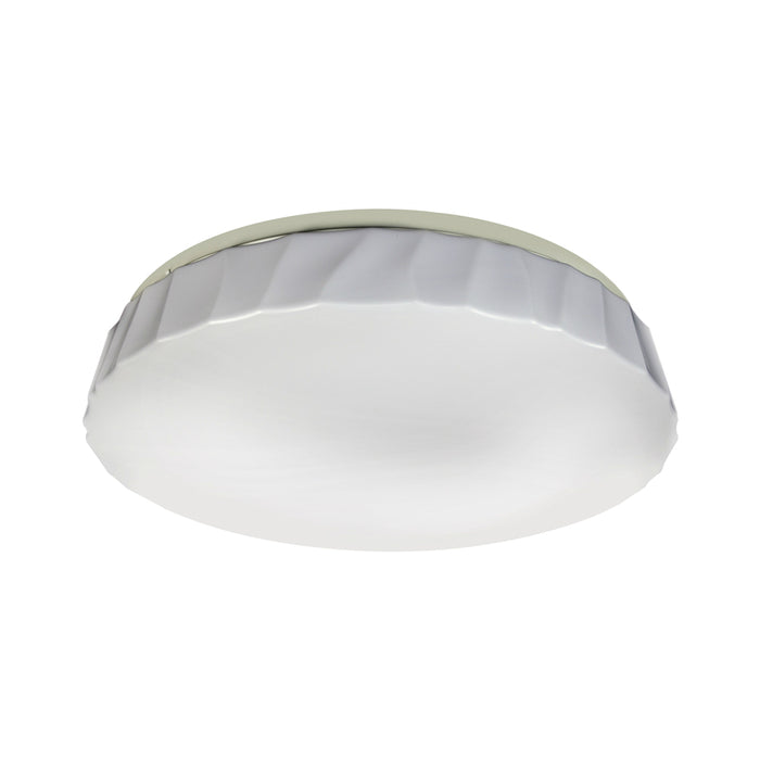 ETI 54451311 Color Preference Cliff Puff Decorative Dimmable Flush Mount, White, 15