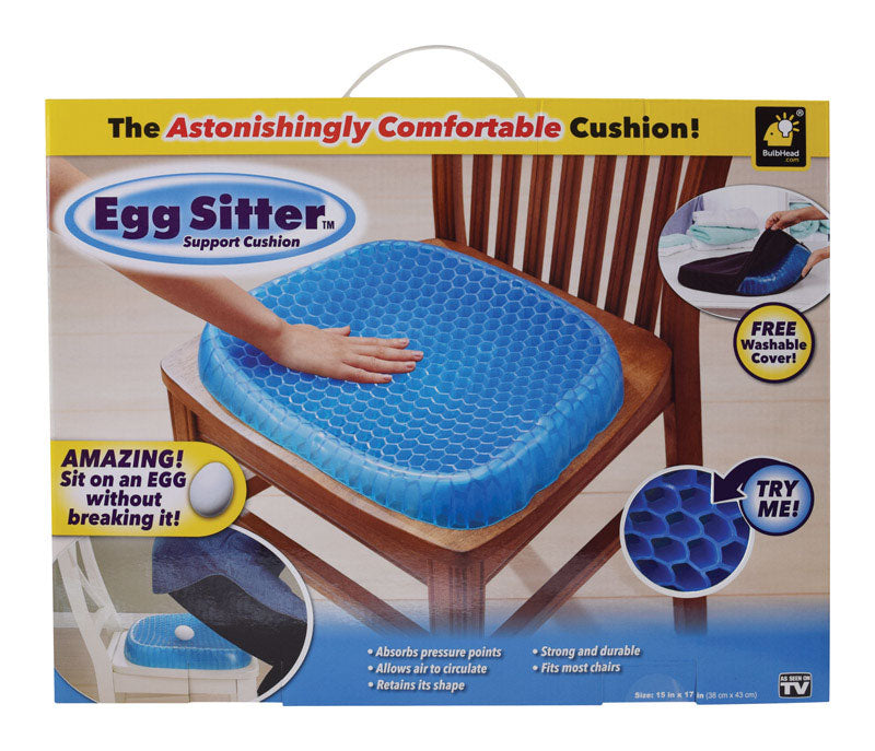 Egg Sitter 12655-4 As Seen On TV Astonishingly Comfortable Seat Cushion, Polymer, Blue
