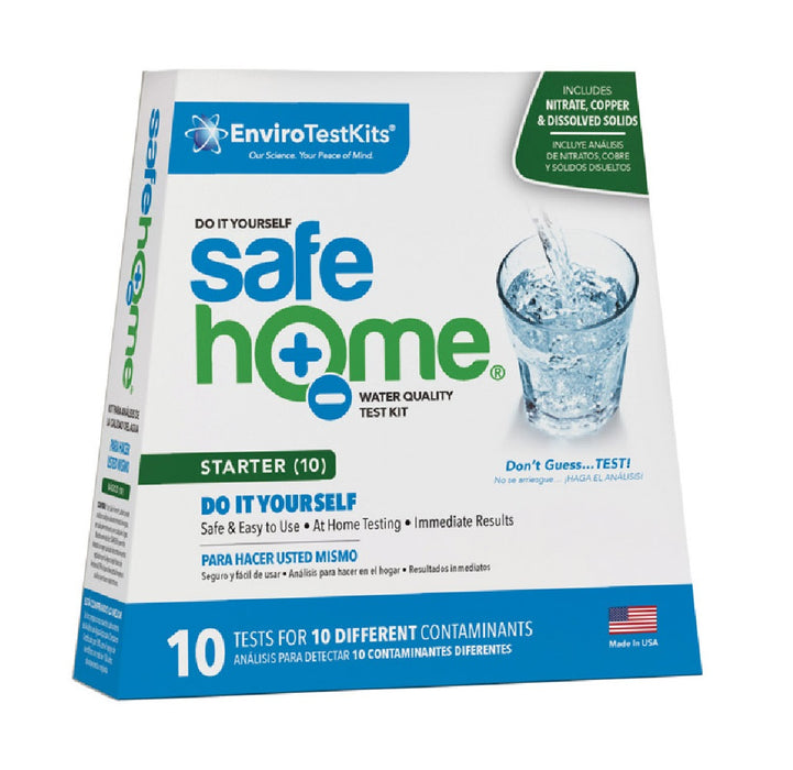 Enviro Test Kits SH-S10DIY1 Safe Home Water Quality Test Kit