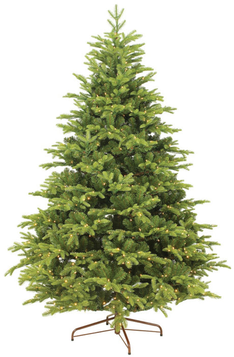 Everlands 9690762 Prelit Mountain Spruce Hinged Christmas Tree, 7-1/2'