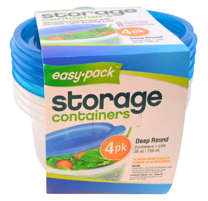FLP 8060 Easy-Pack Food Container Set, 25 Oz