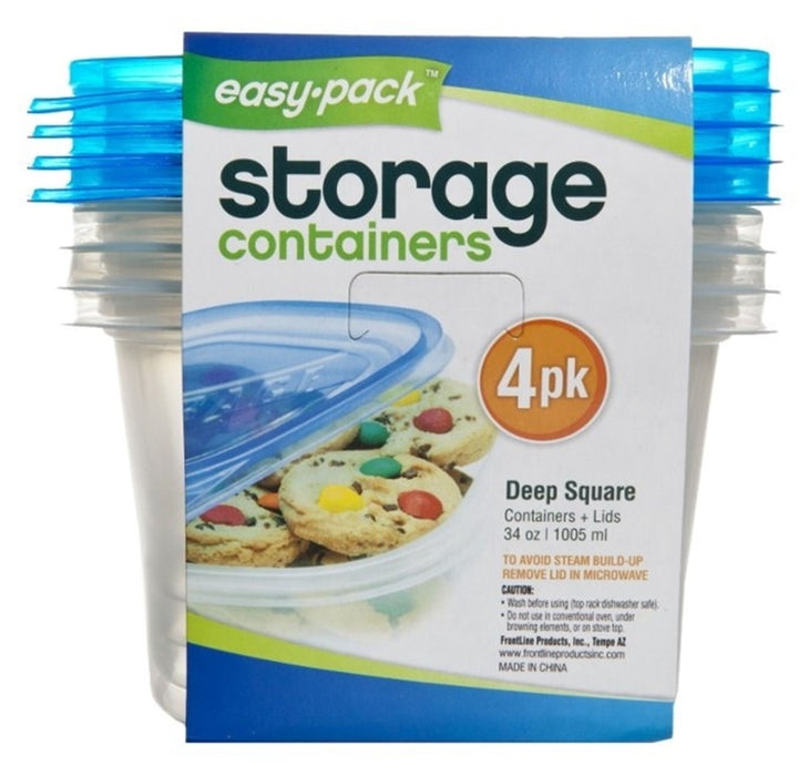 FLP 8066 Easy-Pack Storage Container, 34 Oz