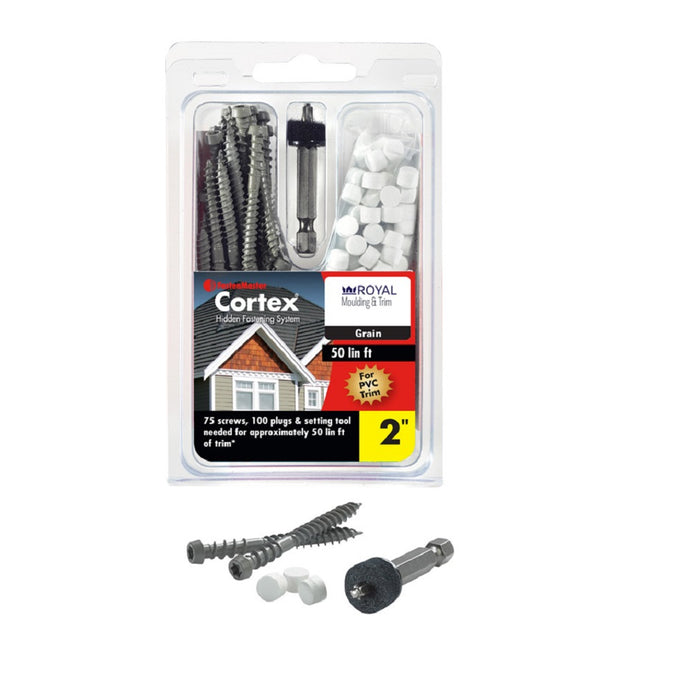 Fastenmaster FMCTXT-RY50SM Cortex Trim Screws with Plug, 2