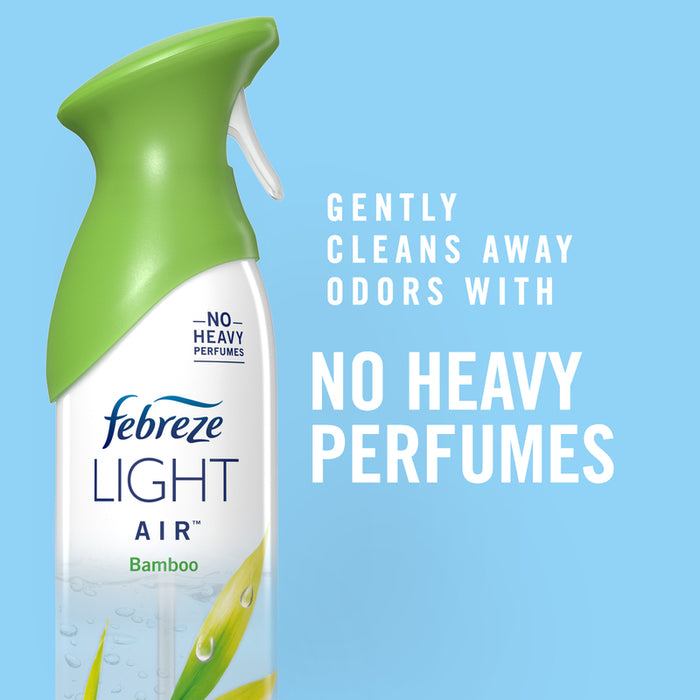 Febreze 62904 Light Air Freshener, Bamboo, 8.8 Oz
