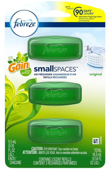 Febreze 70602 Small Spaces Air Freshener Refill, Gain Original Scent
