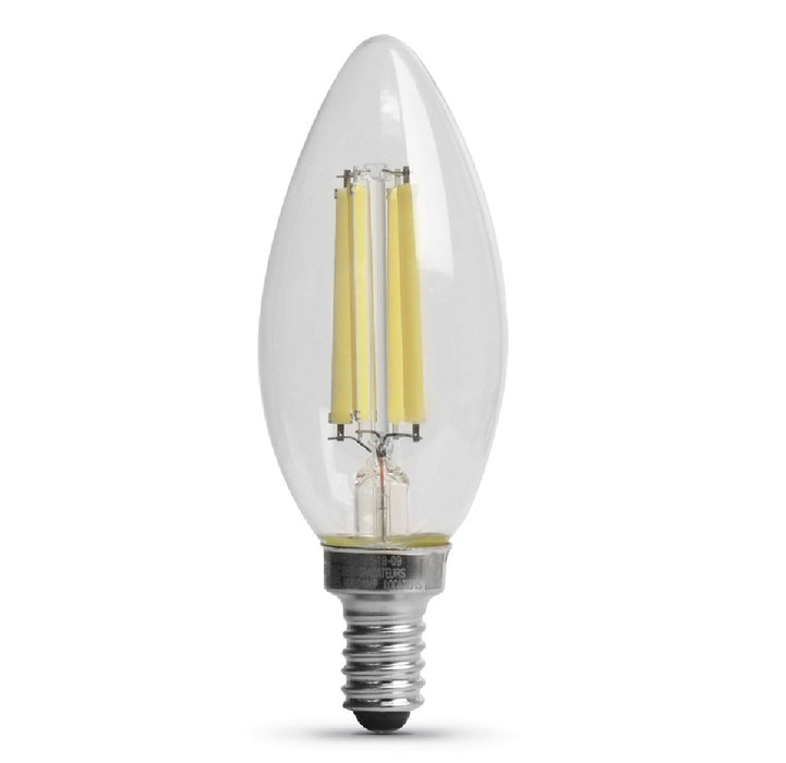 Feit Electric BPCTC100850LED2 Blunt Tip E12 LED Bulb, Daylight