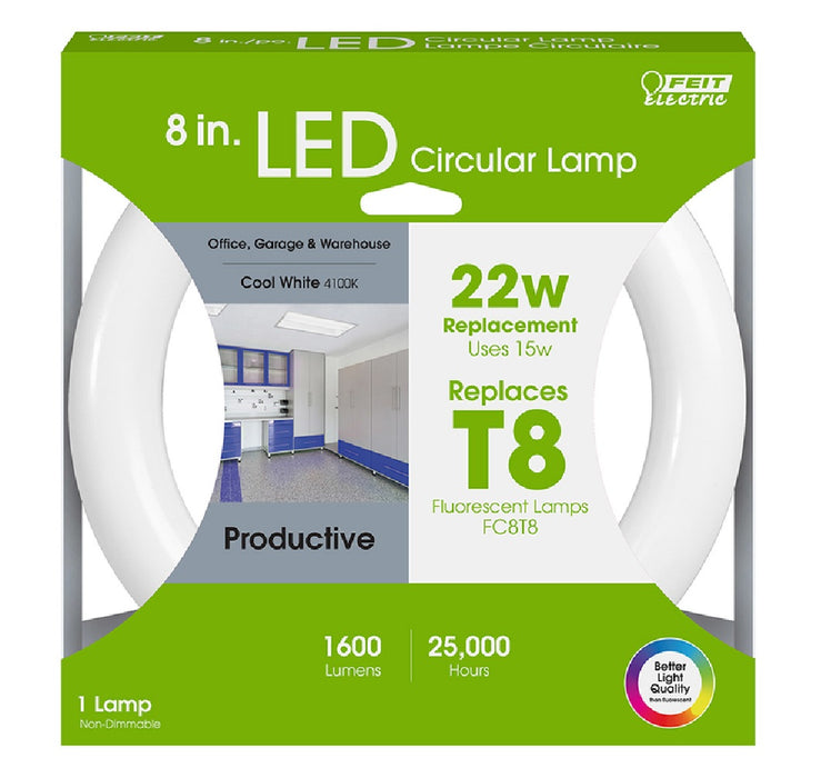 Feit Electric FC8/840/LED Fluorescent Circular LED Bulb, Cool White
