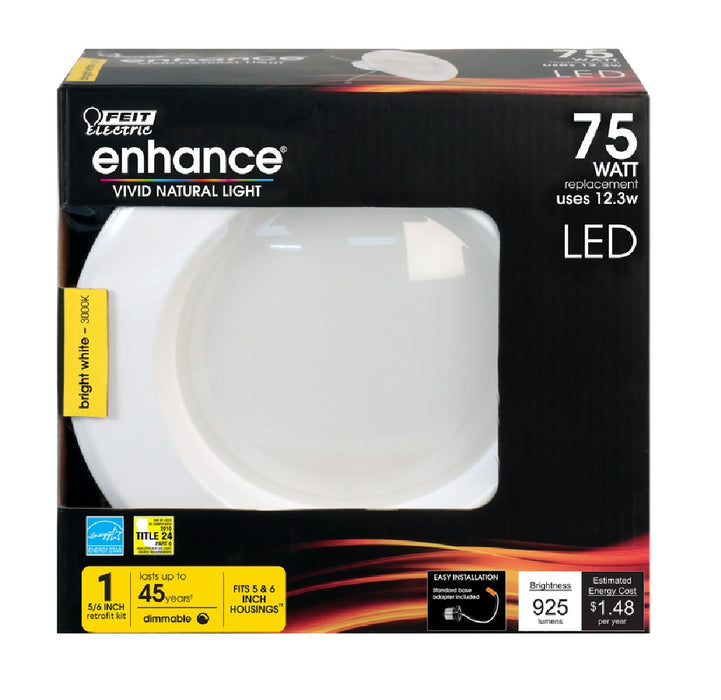 Feit Electric LEDR56/930CA Enhance Dimmable Recessed LED Downlight, 5-6