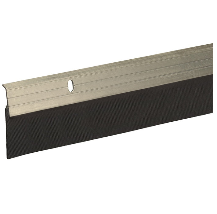 Frost King A79SN Reinforced Door Sweep, Satin Nickel, Rubber, 2 x 36 Inch