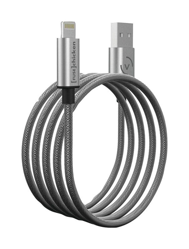 Armour Charge Apple Lightning Cable, Silver, shop home
