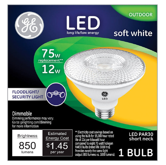 GE Lighting 38443 Dimmable LED Floodlight, Soft White, 12 W