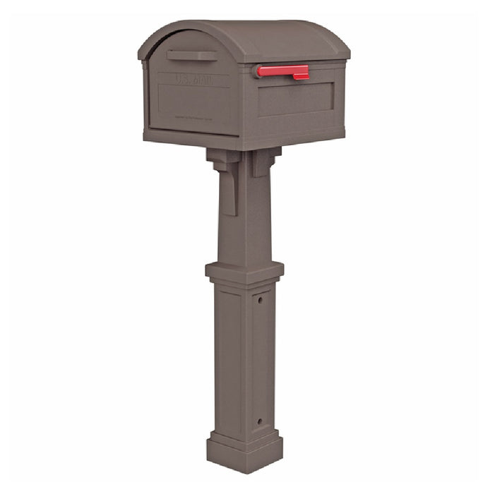 Gibraltar GHC40M01 Grand Haven Post and Box Combo Mailbox, 54 Inch