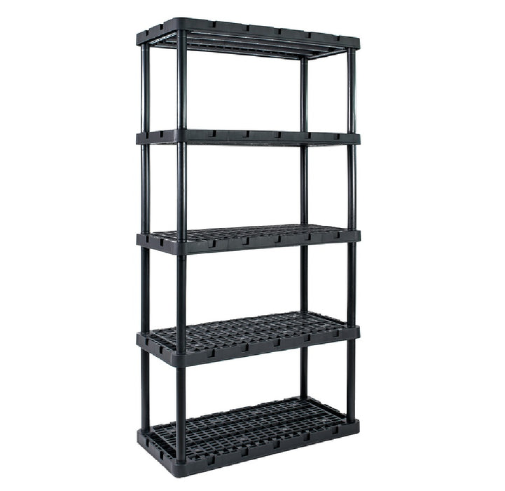 Gracious Living 91086-1C Knect-A-Shelf Shelving Unit, Resin, 72