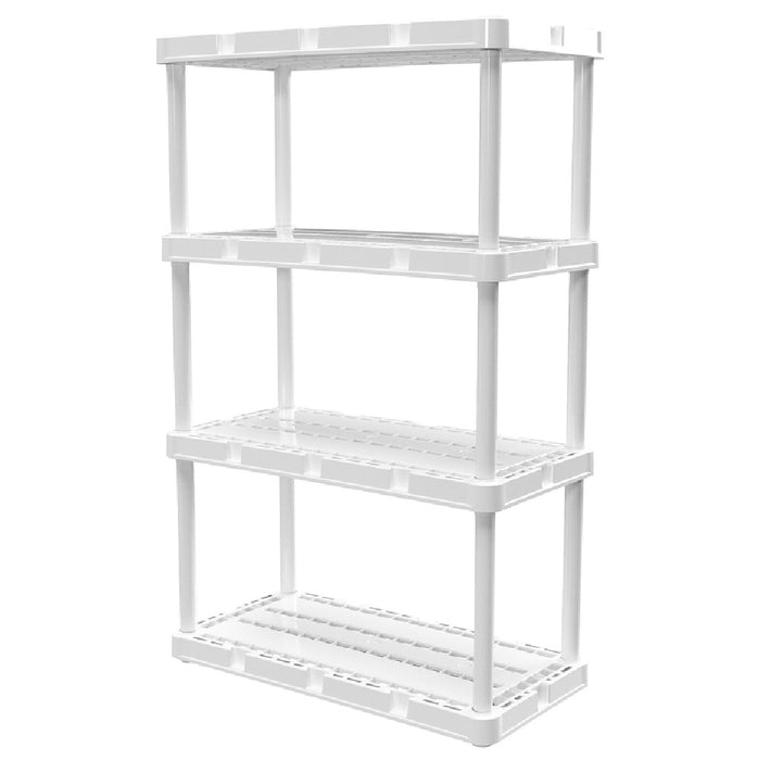 Gracious Living 91088-1C Knect-A-Shelf Shelving Unit, Resin, 48