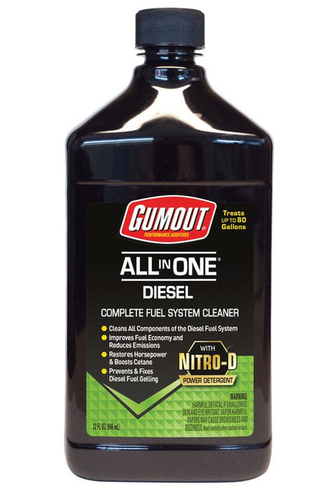 Gumout 510012 All-in-One Diesel Fuel System Cleaner, 32 Oz