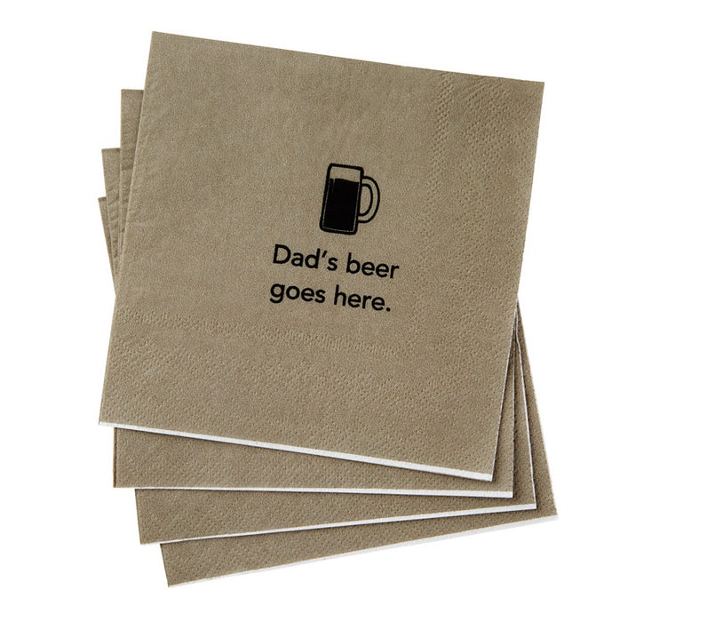 Hallmark 1BRW1027 Dad's Beer Beverage Napkins