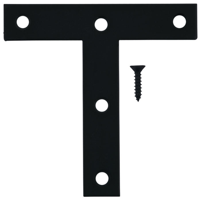 Hampton 01-3410-426 T-Plate, Black, 4 in X 4 In