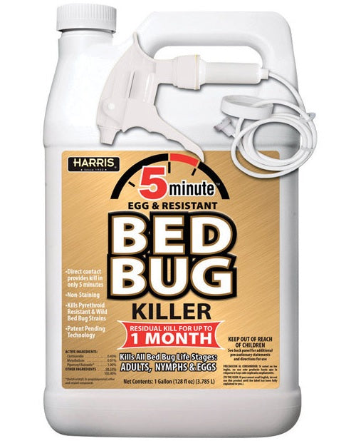 Harris GOLDBB-128 5 Minute Egg Kill & Resistant Bed Bug Killer, 1 Gallon