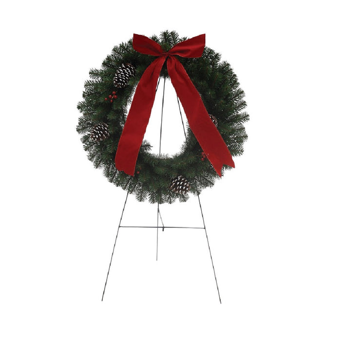 Holiday Bright Lights MEMWR-30A Christmas Memorial Wreath With Stand