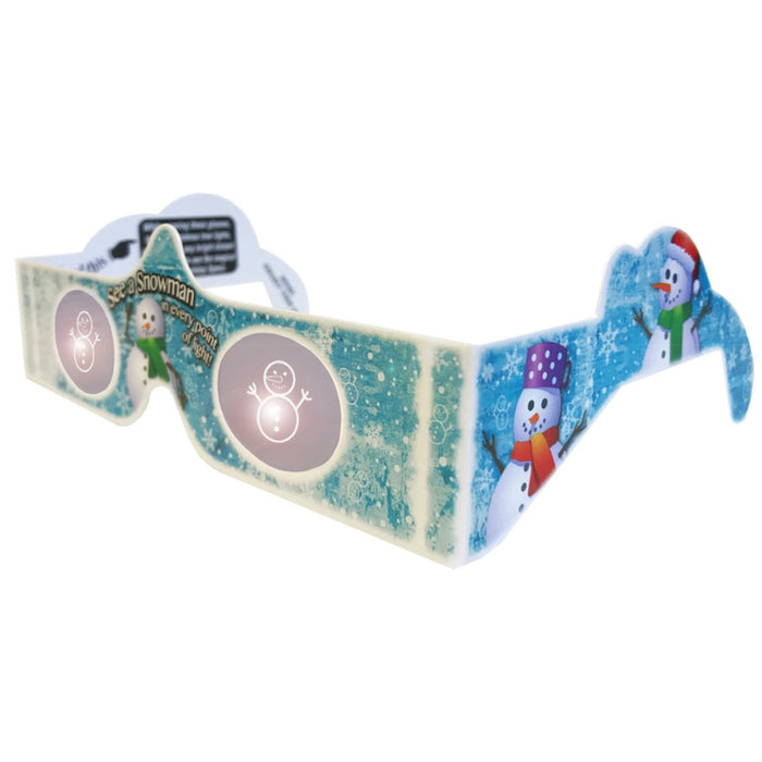 Holiday Specs hlcounter Look At Lights Snowman 3D Glasses, Cardboard