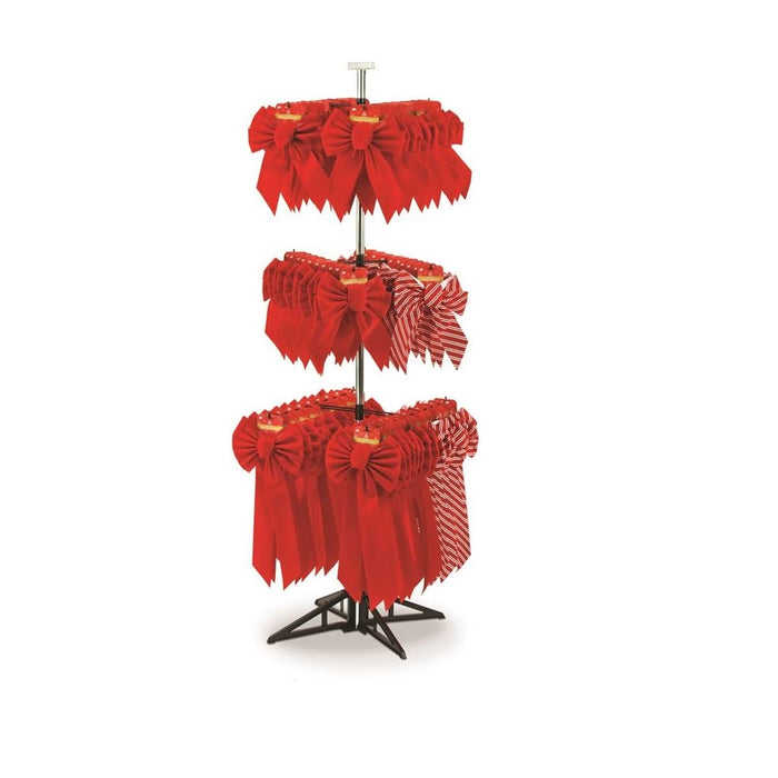 Holiday Trims 7439 Christmas Bow With Rack, Velvet, Red