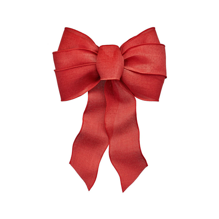 Holiday Trims 6148 Christmas Bow, Red, 14
