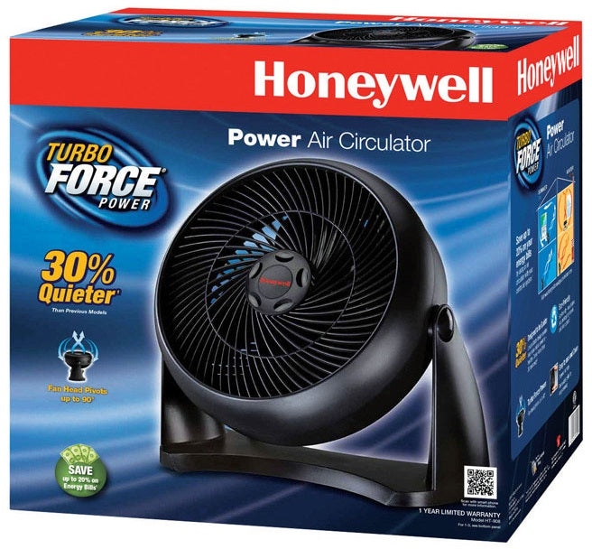 Honeywell HT-908 Turbo Force Room Air Circulator Fan, Black