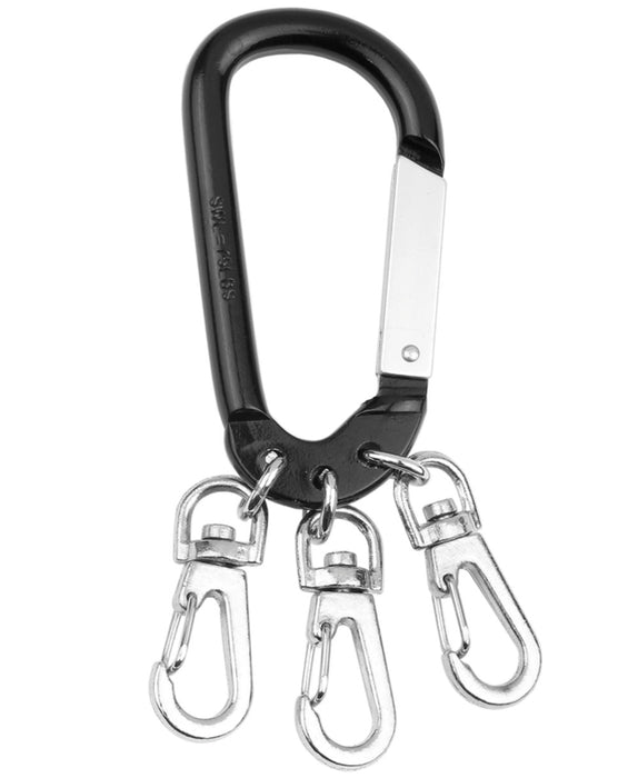 Hy-Ko KC600 Carabiner With Snaps, Aluminum