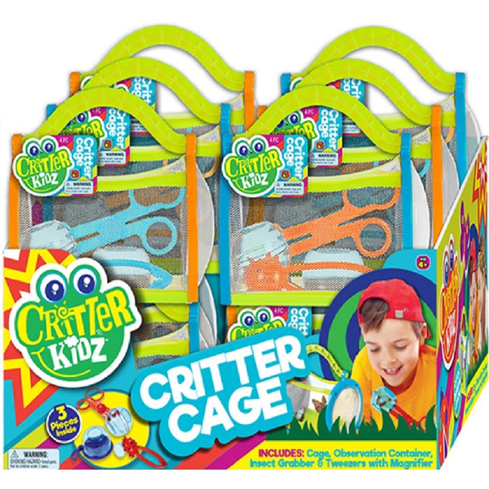 Ja-Ru 5419 Critter Kidz Critter Cage, Plastic, Assorted Color