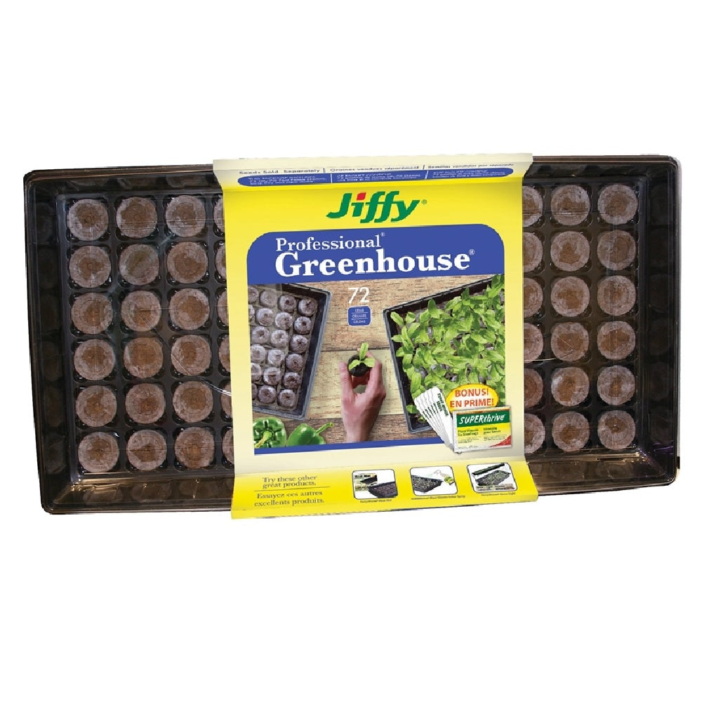 Jiffy Products J372st-20 Professional Greenhouse With Plant Labels Starter Kit