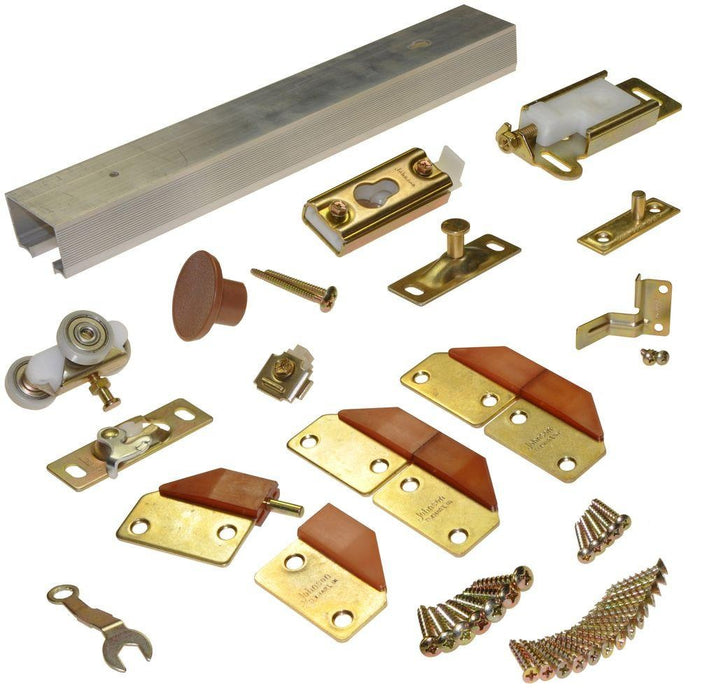 Johnson Hardware 100FD362 Bi-fold Door Hardware Kit, Aluminum