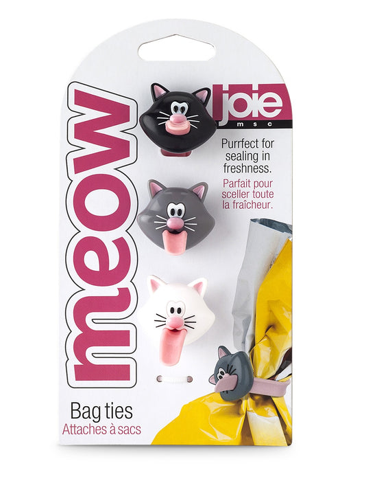 Joie MSC 12415 Meow Bag Ties, Assorted Colors
