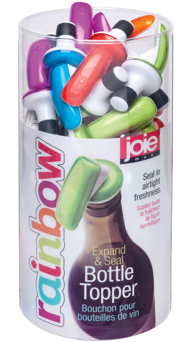 Joie MSC 12735PRO Rainbow Expand & Seal Bottle Topper, Assorted Colors