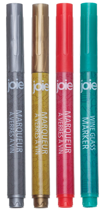 Joie MSC 10141 Wine Glass Makers, Assorted Colors
