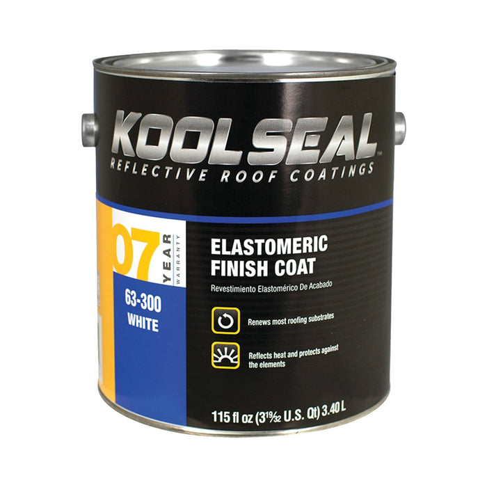 Kool Seal KS0063300-16 Elastomeric Roof Coating, White, 1 Gallon