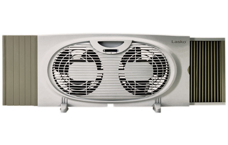 Lasko W07350 Twin Electric Window Fan, 3 Speed