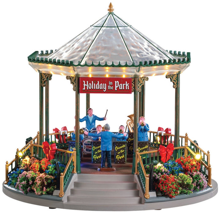 Lemax 94551 Christmas Holiday Garden Green Bandstand, Multicolored
