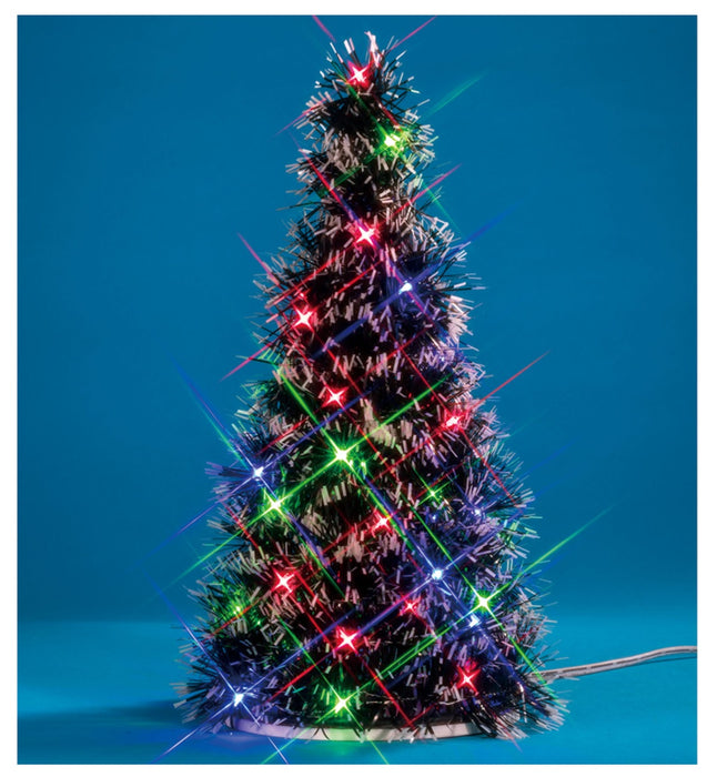 Lemax 94522 Lighted Fir Christmas Tree Village Accessory, Multicolored