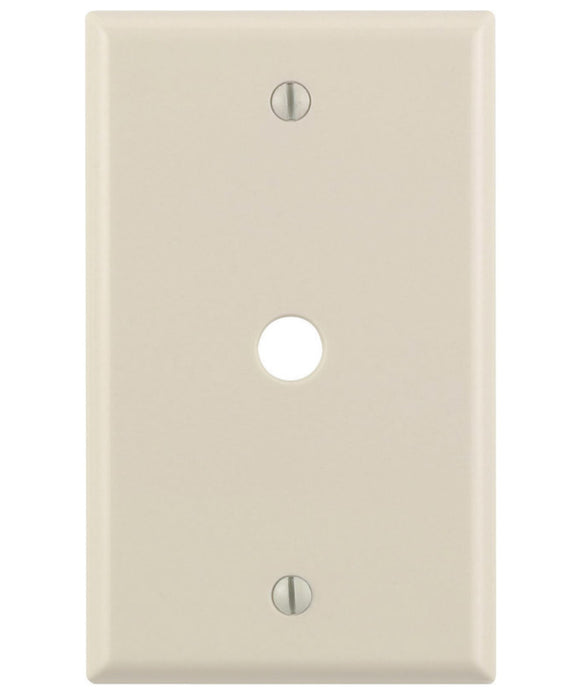 Leviton 78013-000 Telephone Wall Plate, 1 Gang, Almond