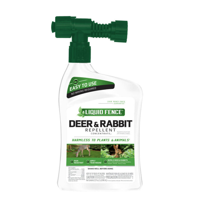 Liquid Fence HG-75044 Animal Repellent Liquid For Deer and Rabbits, 32 oz