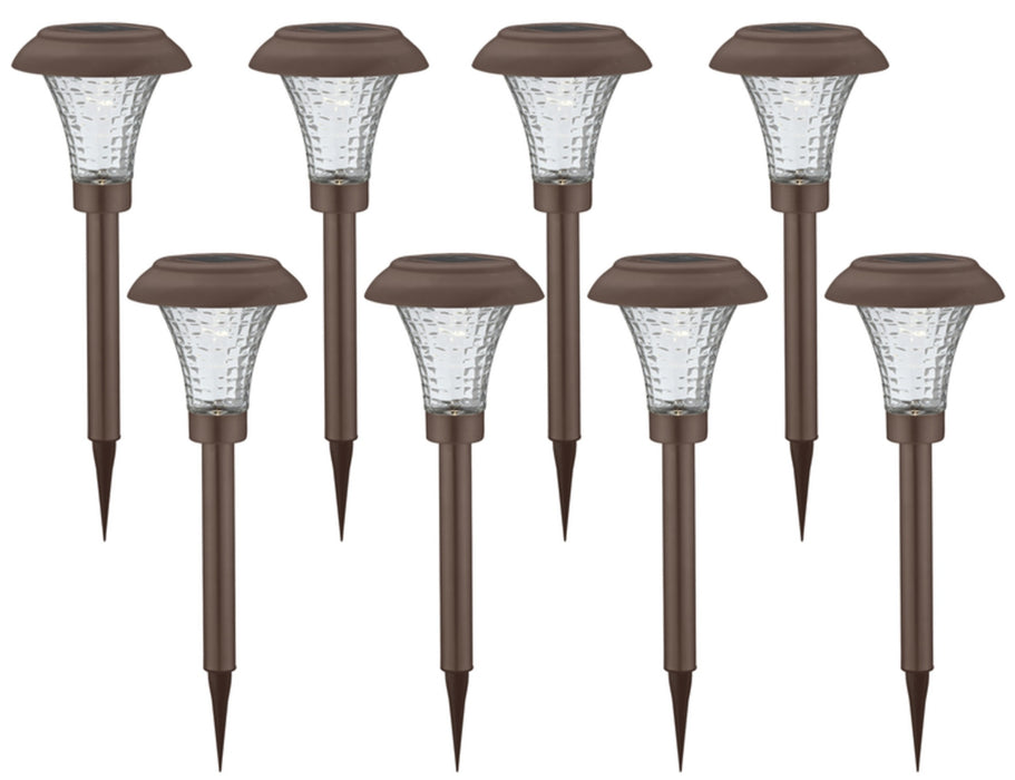Living Accents 60029B-8PK Solar Powered LED Pathway Light, Matte