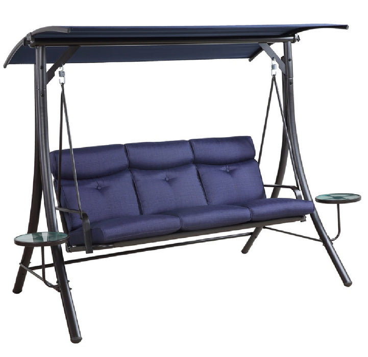 Living Accents RUS415M-N 3 Person Swing, Steel, Navy Blue