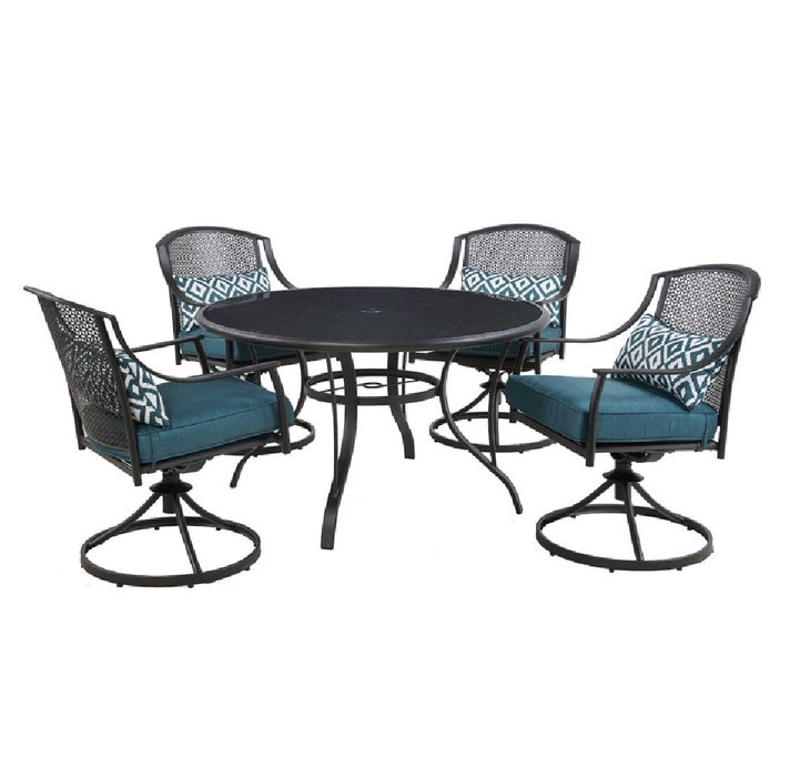 Living Accents STS523D Cortland Patio Set, Steel, Black ... on Living Accents Cortland Patio Set id=47076
