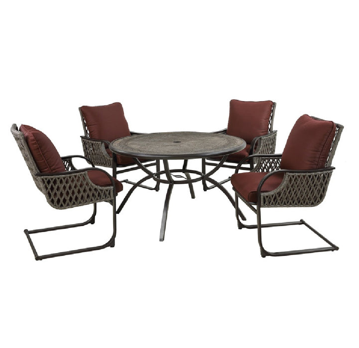 Living Accents STS5V68 Redmond Patio Set, Steel, Burgundy ... on Living Accents Patio id=49968