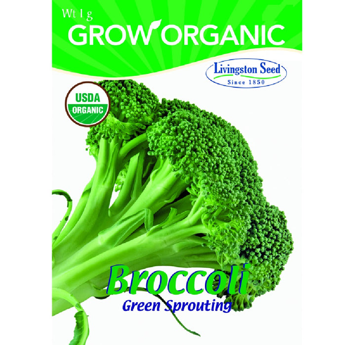 Livingston Seed Y7035 Broccoli Green Sprouting Plantation Vegetable, 1g