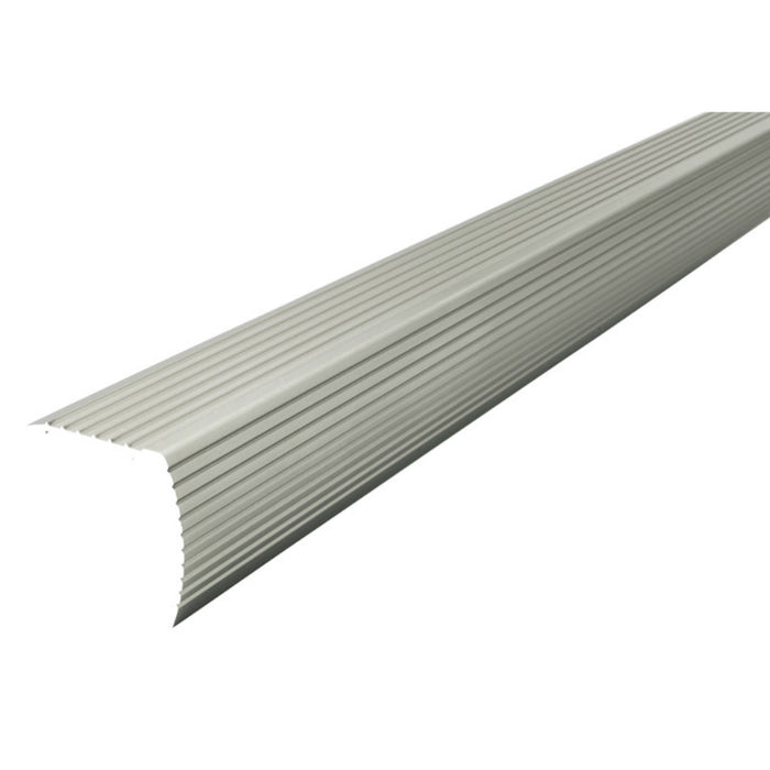 M-D Building Products 43376 Fluted Stair Edging, Satin Silver, 72 In