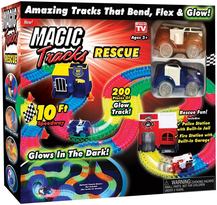 Magic Tracks MTU-MC8/2 As Seen On TV Resuce Race Car Set, Multi-Colored
