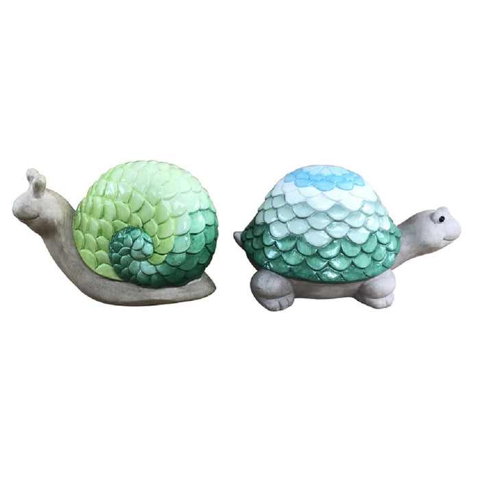 Meadowcreek ZAC84G20401 Turtle Statuary, Ceramic, Assorted Color